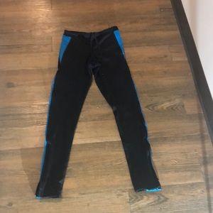 Girls black and blue champion leggings